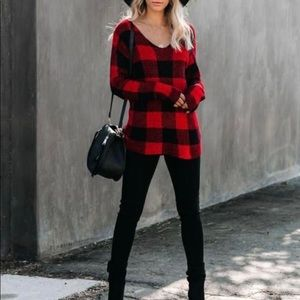 Buffalo Check Sweater Checkered Sweater